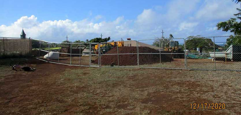 Paia Community Center sewer line project