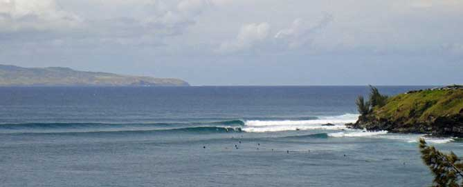 Surfers at Hookipa Point