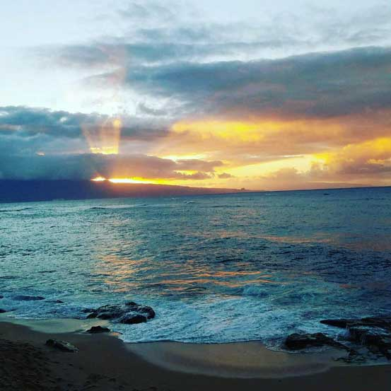 Kahakaloa Sunset from Paia