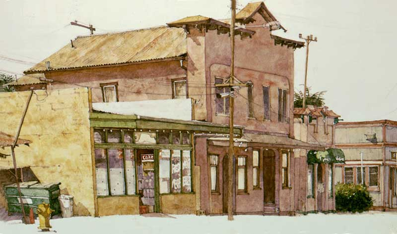 Painting by Eddie Flotte: Horiuchi Building