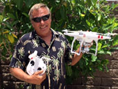 Rick Daniels with drone