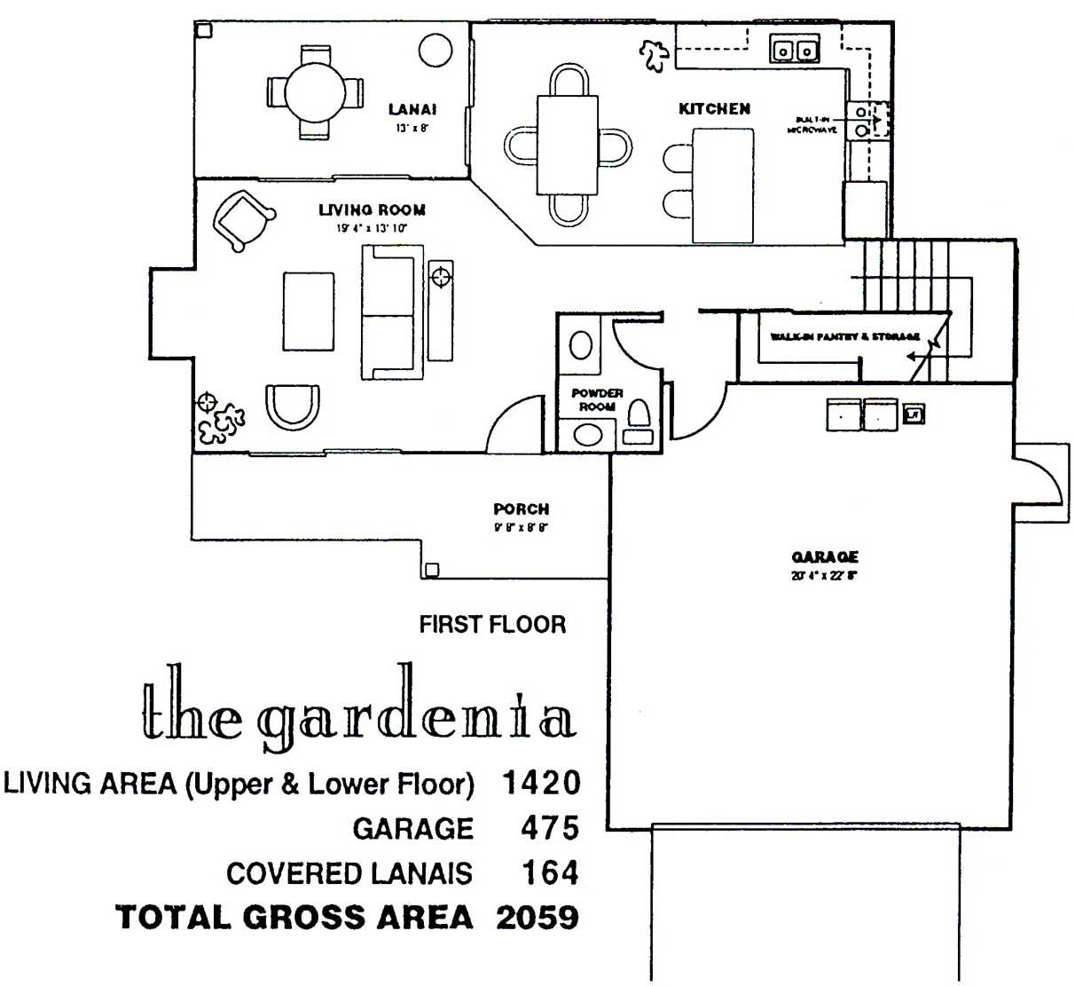 Gardenia Floor Plan at Kuau Bayview