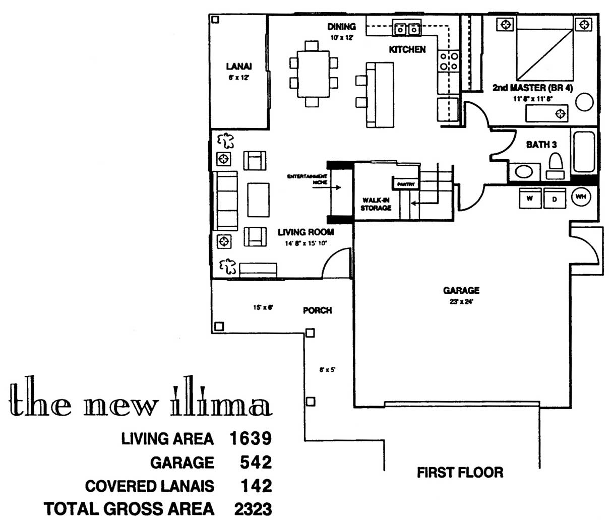 New Ilima Floor Plan 1st Floor at Kuau Bayview