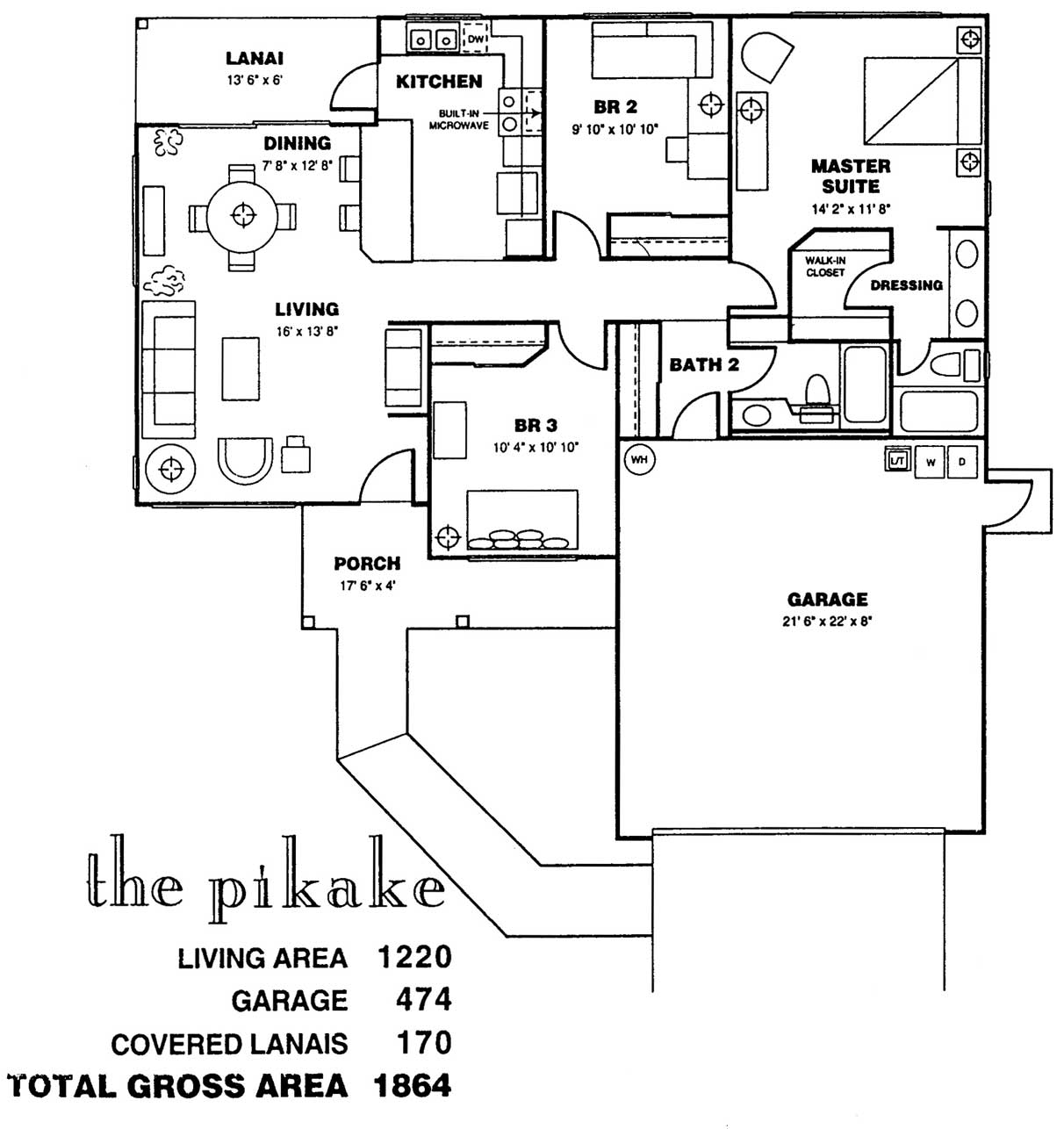 Pikake Floor Plan at Kuau Bayview