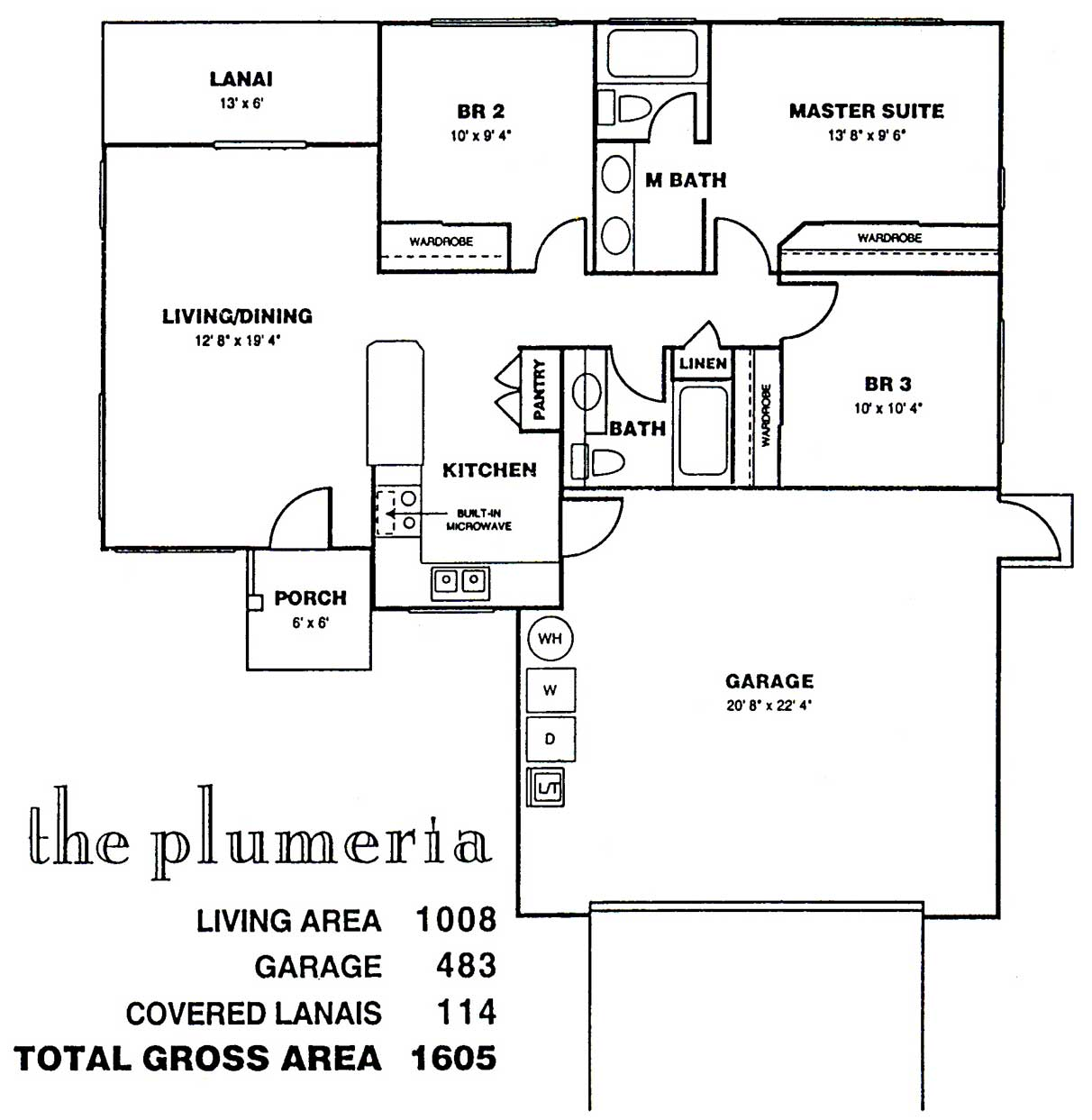 Plumeria Floor Plan at Kuau Bayview