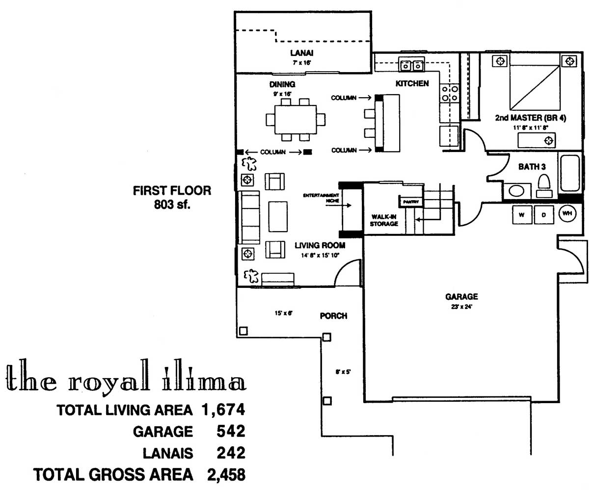 Royal Ilima Floor Plan 1st Floor at Kuau Bayview